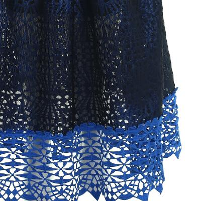 see-through detail two tone skirt